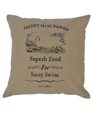 Picture of Sassy Swine Fabric Pillow Cover