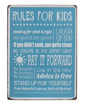 Picture of Rules for Kids Sign