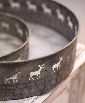 Reindeer Nesting Tins Set