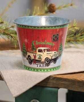 Vintage Santa Truck Bucket