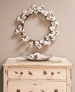 Cotton Wreath, 17""