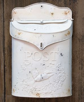 Vintage White Post Box