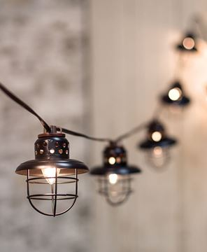 Black Lantern String Lights