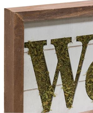 Mossy Welcome Sign