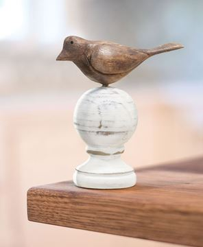 Wood Carved Bird Finial