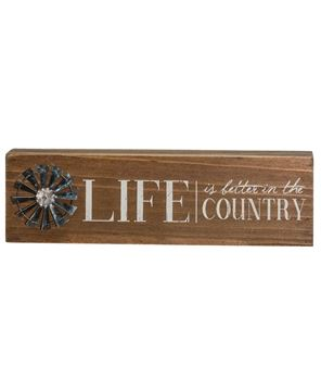 Country Windmill Box Sign
