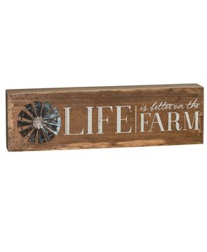 Farm Life Windmill Sign