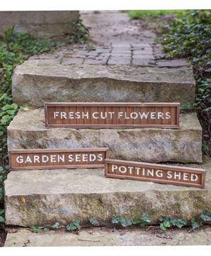 Garden Seeds Slatted Wood Sign