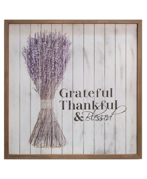 """Grateful Framed Shiplap Sign, 15"""""""