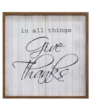 All Things Give Thanks Framed Sign