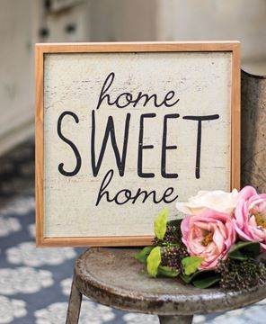 Framed Home Sweet Home Sign
