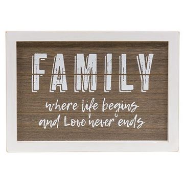 Picture of Family Where Life Begins Sign