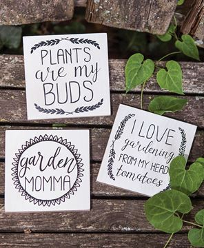 Picture of Plants Are My Buds Signs, 3/set