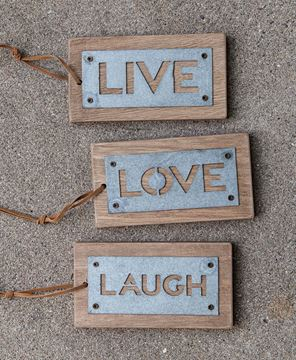 Picture of Live, Love, Laugh Tags, 3/set