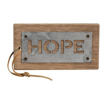 Picture of Metal Hope, Dream, Faith Tags, 3/set