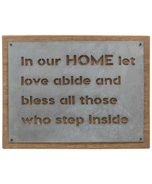 Picture of In Our Home Metal Sign