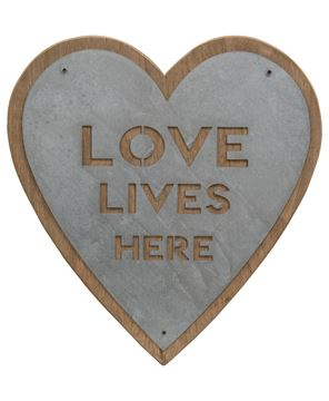 Picture of Love Lives Here Heart Sign