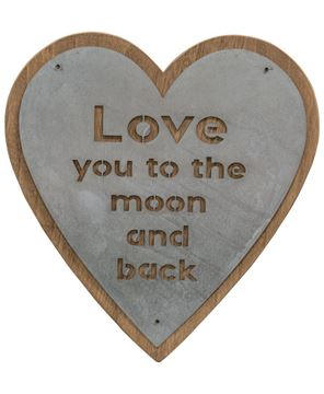 Picture of Moon and Back Heart Sign