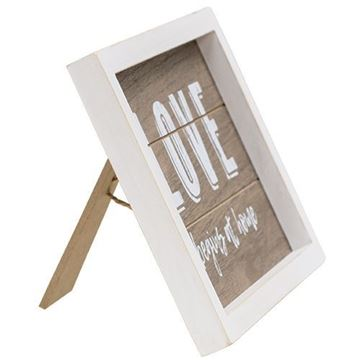 Picture of Love Begins at Home Sign with Easel