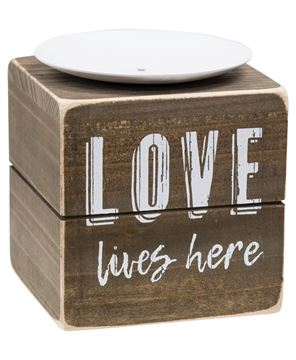 Picture of Love Lives Here Candle Block