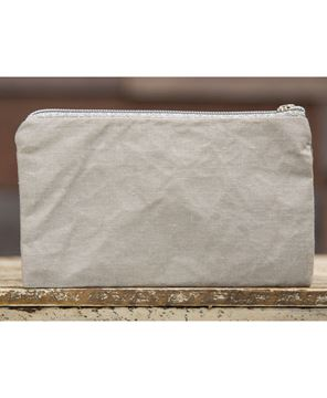 Picture of Believe Gray Fringe Pouch