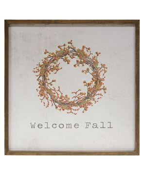 "Picture of Framed Watercolor Wall Art, 20"" - Fall"