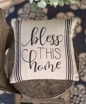Picture of Bless This Home Pillow, 10""