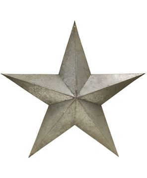 Picture of Galvanized Metal Star, 24""