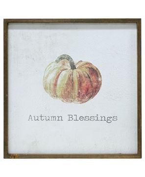 Picture of Framed Watercolor Wall Art - Autumn, 20""