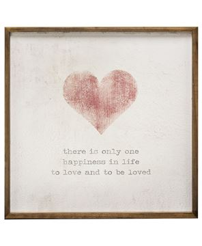 """Picture of Framed Watercolor Wall Art - Heart, 20"""""""