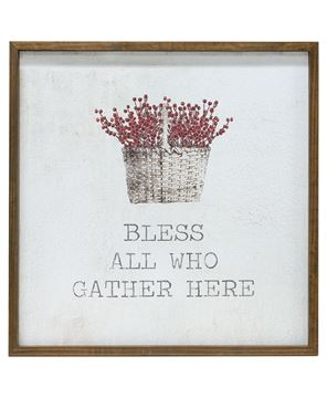 """Picture of Framed Watercolor Wall Art, 20"""" - Gather"""