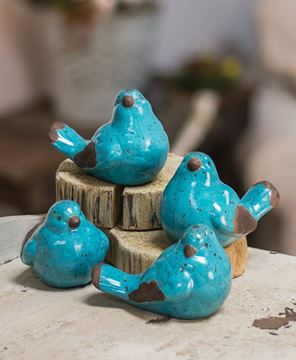 Picture of Resin Blue Birds, 4/set
