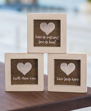 Picture of Love Lives Here Framed Signs, 3/set