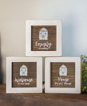 Picture of Welcome to Our Home Mini Signs, 3/set