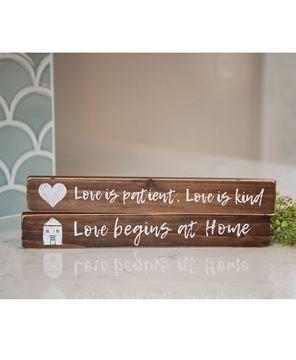 Picture of Love is Patient Block, 2/set