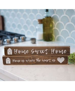 Picture of Home is Where the Heart is Block, 2/set