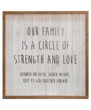 """Picture of Our Family Framed Shiplap Sign, 20"""""""