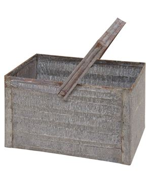 Picture of Washed Galvanized Baskets, 2/set