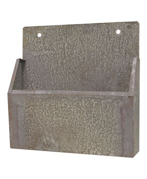 Picture of Washed Galvanized Wall Mail Bin