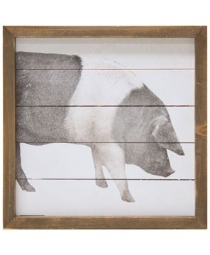 Picture of Simply Farmhouse Sign - Pig