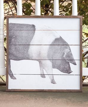 Picture of Simply Farmhouse Wall Sign - Pig