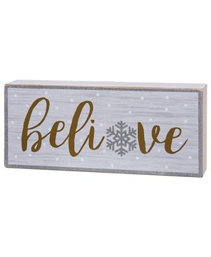 Picture of Believe Box Sign