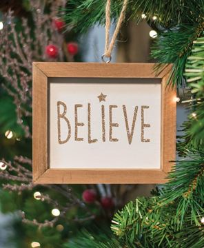 Picture of Believe Frame Ornament