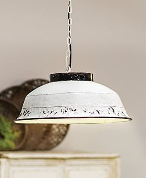Picture of Rustic Enamel Pendant Lamp