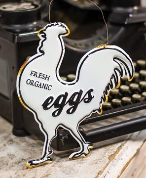 Picture of Fresh Eggs Enamel Ornament