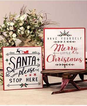 Picture of Merry Little Christmas Enamel Sign