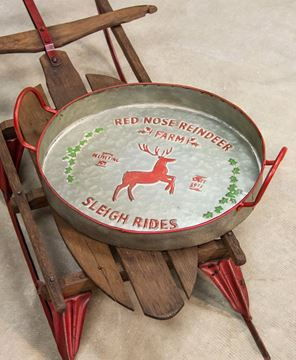 Picture of Red Nose Reindeer Metal Tray