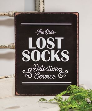 Picture of Lost Socks Detective Service Distressed Metal Sign
