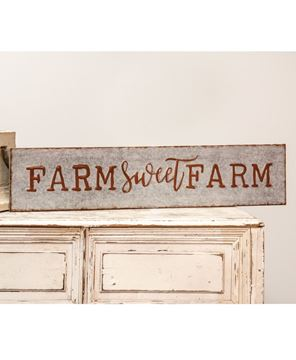 Picture of Galvanized Metal Farm Sweet Farm Sign