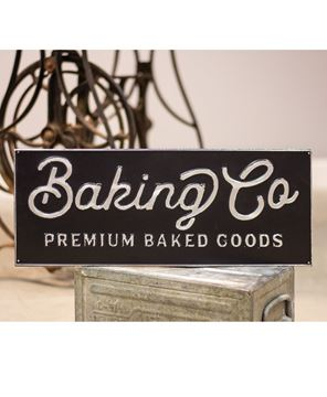 Picture of Black and Galvanized Metal Baking Co. Enamel Sign